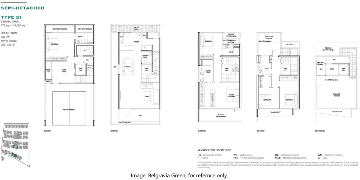 Belgravia Ace Belgravia Green Floor Map For reference only